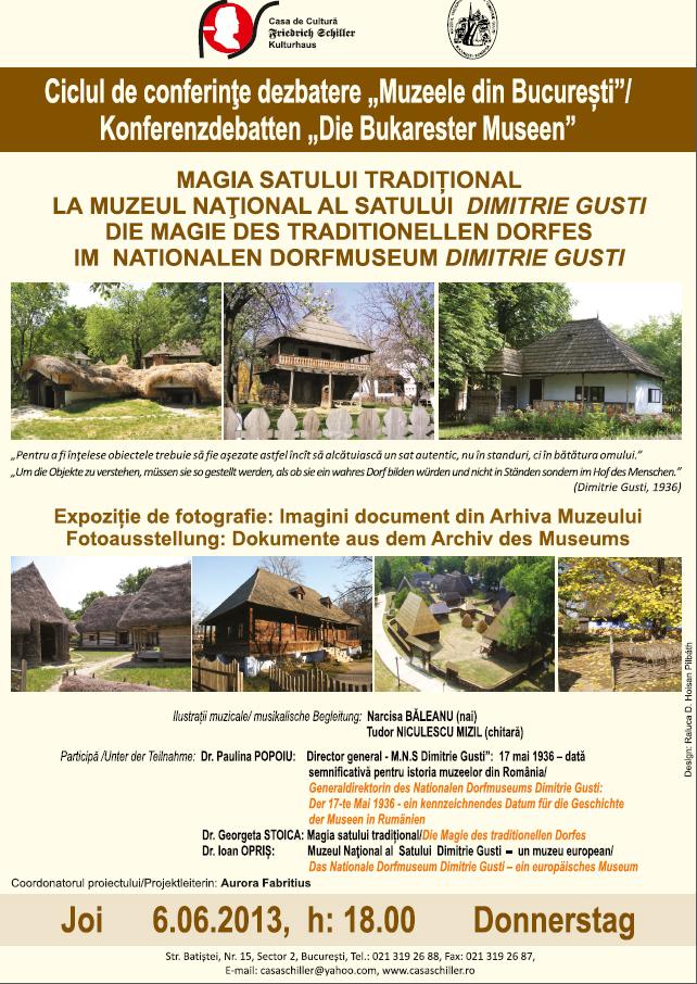 Afis muzeul satului