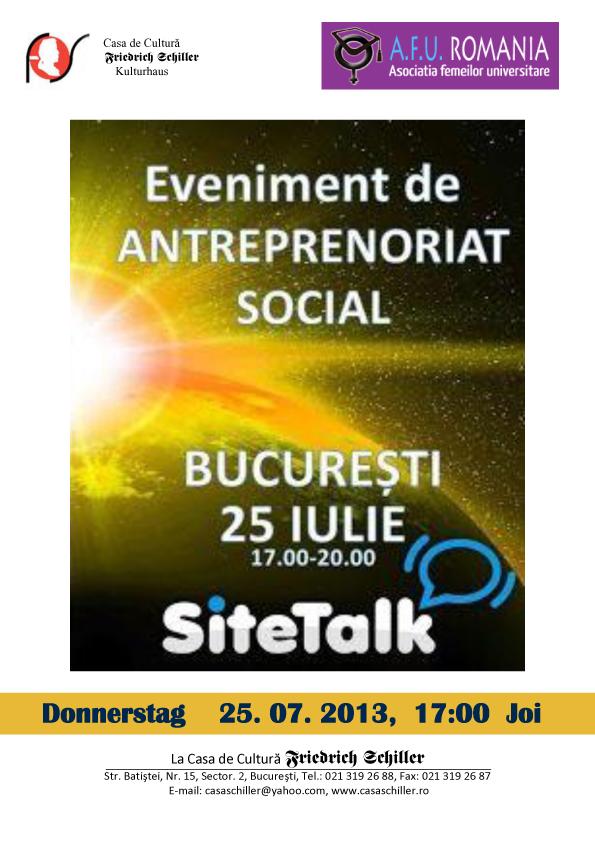 Conferinta antreprenoriat social