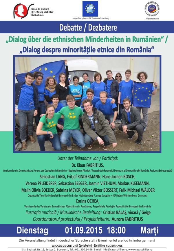 Dialog despre minoritatile etnice din romania